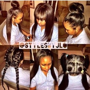 Vixen sew in ! Bangs edition ...: Black Hairstyles, Sew Ins, Vixen Sew ...