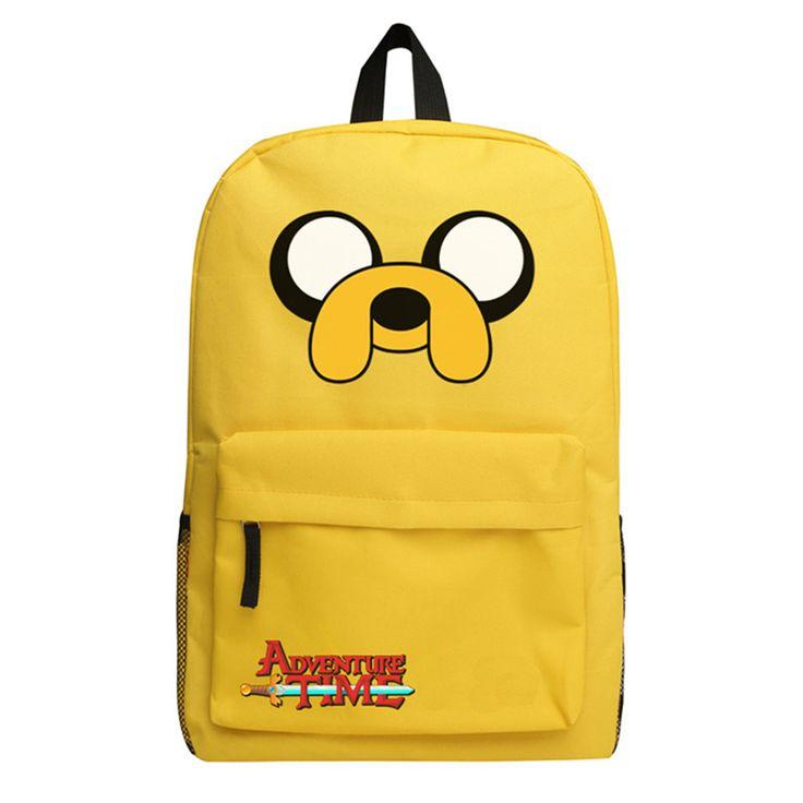Adventure Time Backpack Canvas Bag Finn and Jake School Bags for Boys Girls Casual backpacks Knapsack