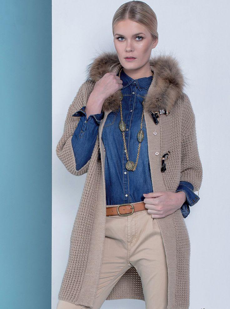 *Must-have Fracomina* Maxi cardigan in lana tricottata con alamari: easy, caldo e di gran tendenza! Shop it now-->http://goo.gl/Cfij7m #fracomina #cardigan