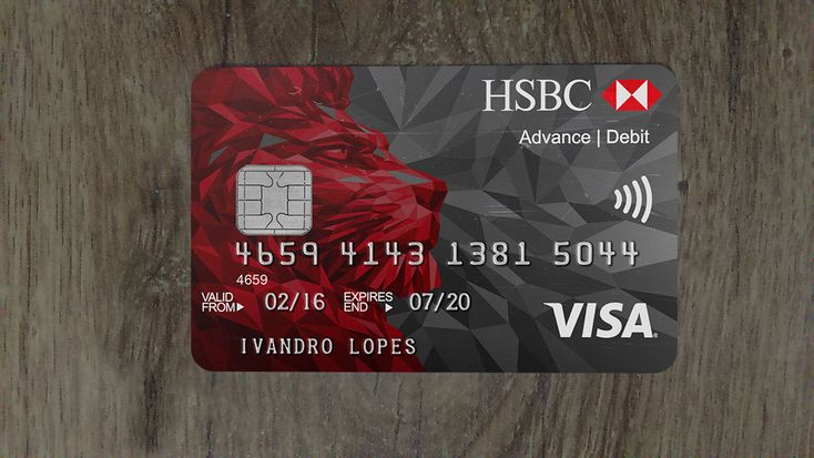 Hsbc bank cc back and front psd fully editable download