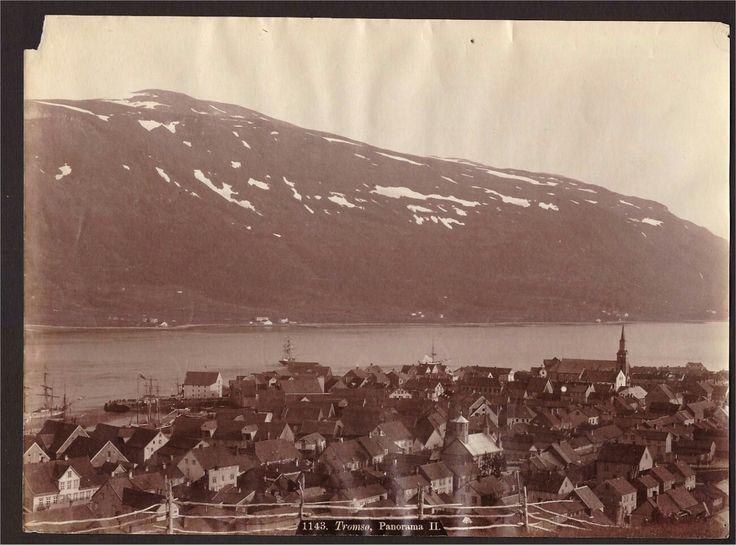 Troms fylke Tromsø. Panorama Tidlig 1900