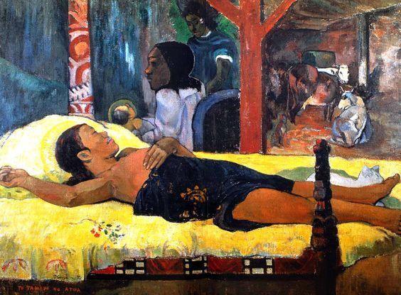 Paul Gauguin - Tahiti - La naissance du Christ, fils de Dieu - 1896.