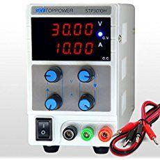 skytoppower 0- 30V 0- 10A Alimentazione DC di regolabile Laboratorio 4cifre LED Display con fili di uscita