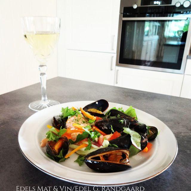 Edels Mat & Vin: Kombidampet laks & blåskjell med grønnsaker og urt...
