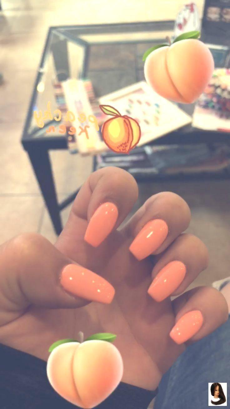 Orangenpfirsich-Acrylnägel Und nicht … – Acrylnägel – #Acrylnägel # …   – Nageldesign