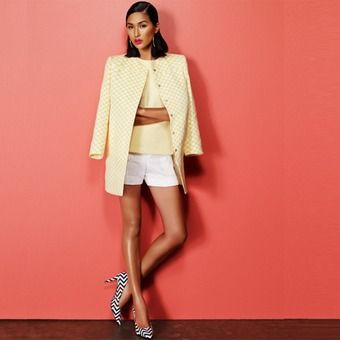 Zara jacket and top, Oroton shorts, Wittner heels ...