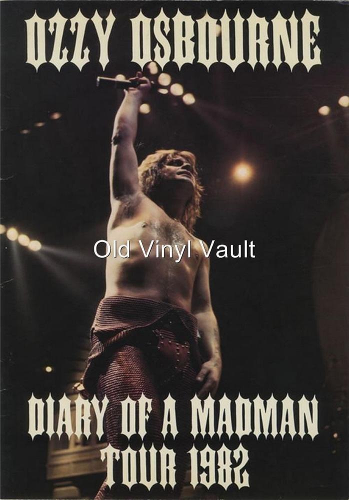 Ozzy Osbourne-Diary Of A Madman Tour 1982   poster print