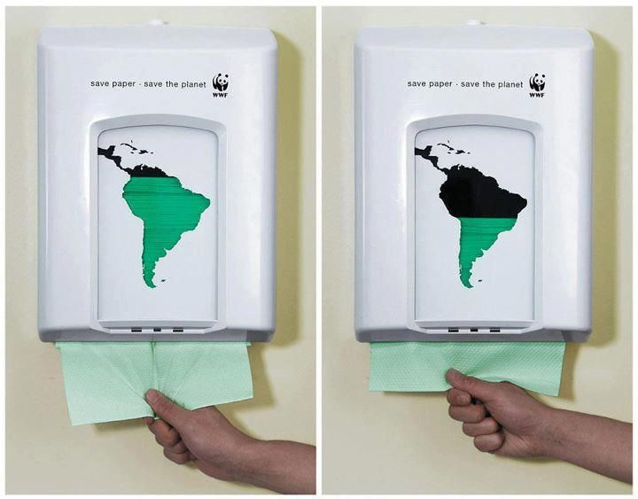 Save paper - save the planet - WWF