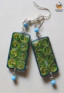 Quilled earrings - Visit http://www.kalanirmitee.com