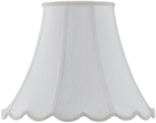 Lamp Shades 20708: White Lamp Shade 16 Inch Scallop Bell Shade White Living Room Rec Room Bedroom -> BUY IT NOW ONLY: $53.54 on eBay!
