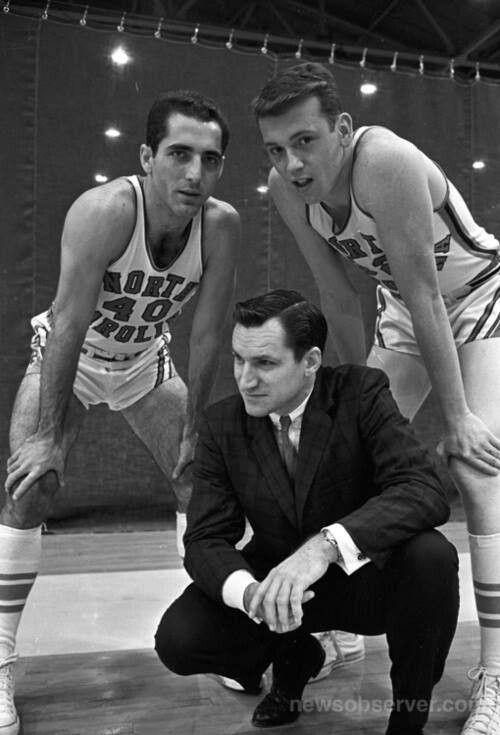 1962- Yogi Poteet, Dean Smith, Billy Cunningham (Facebook Tar Heel Fan Feet page)