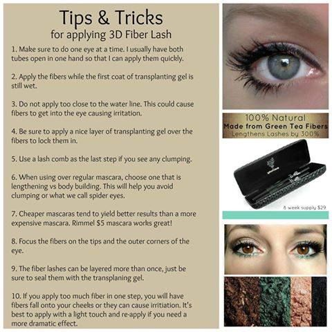 Great tips for using our 3D Fiber Lash Mascara! Younique 3-D Fiber Lash Mascara!!! 300% increase in eyelash volume using a two step wand kit of gel & green tea fibers! Only $29 for the kit!!!  https://www.youniqueproducts.com/EricaGober