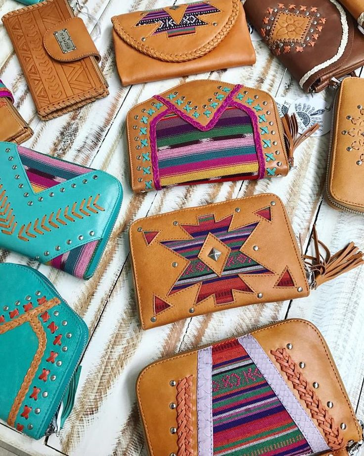 Feeling festive with our colourful Aztec inspired leather wallet designs   Who doesn't need a little colour in their life?!  #aztec #printeddesigns #bohemianchic #bohostyle #leatherinspo #leatherwallets
