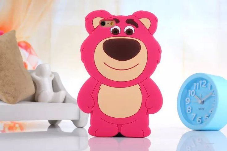 3D Cute Disney Cartoon Lotso Bear Silicone Soft Case For iPhone 5/5S/6/6 Plus