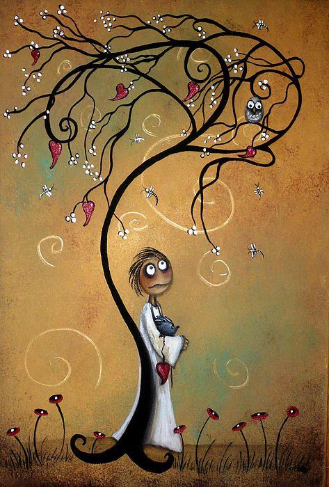 owl wind tree art