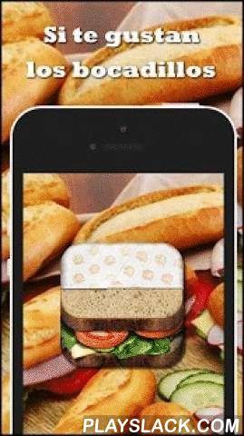 Recetas De Bocadillos  Android App - playslack.com , ** Aplicación disponible solo en español **¿Qué es un bocadillo? algunos dicen que es un trozo de comida entre dos cachos de pan, pero lo cierto es que es mucho mas que eso, en esta guía encontraras cientos de suculentas recetas de bocadillos y sandwiches, desde los clásicos hasta los mas sofisticados. y ahora...... a merendar!! Si tienes un bar o establecimiento de hostelería prueba a ofrecer estos bocadillos a tus clientes, ¡éxito…