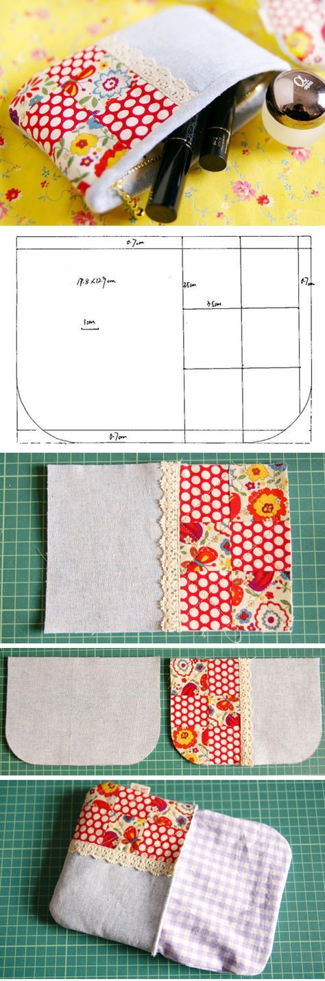 How to sew a fabric pouch. Make A Small Coin Purse. DIY tutorial http://www.handmadiya.com/2016/02/small-fabric-purse-tutorial.html