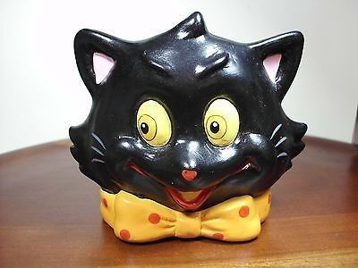 vintage lefton halloween cat votive candle holder evc 10222013 - Ceramic Halloween Decorations