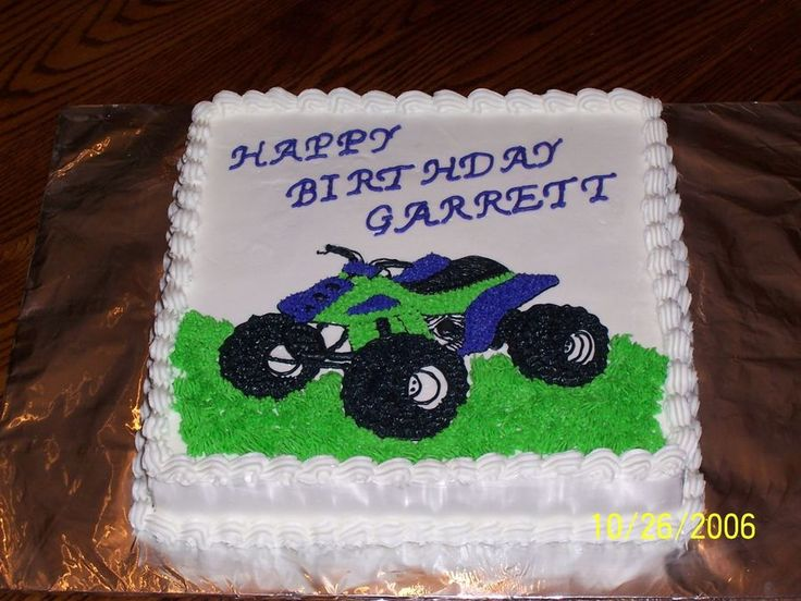 4-wheeler Birthday cake