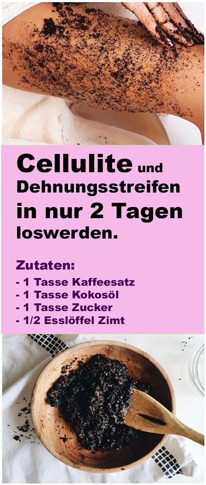 Beste DIY Cellulite Exfoliation! Dank reifer Inhaltsstoffe wird die Cellulite in