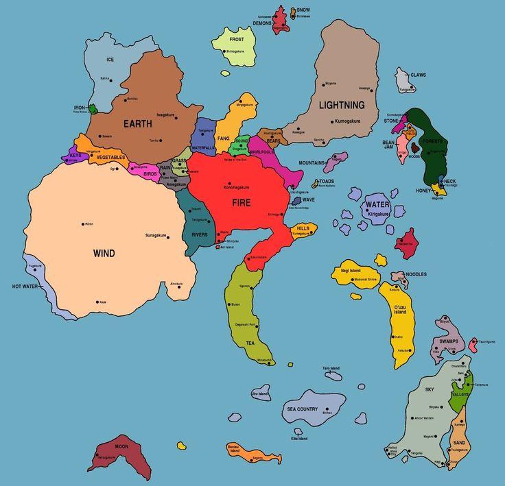 naruto map (with ocean) by UchidaKarasu