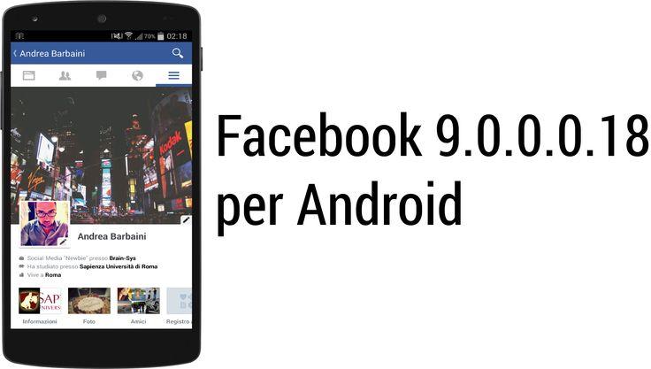 """Facebook per Android riceve una nuova grafica """"flat"""", almeno nella versione alpha."""