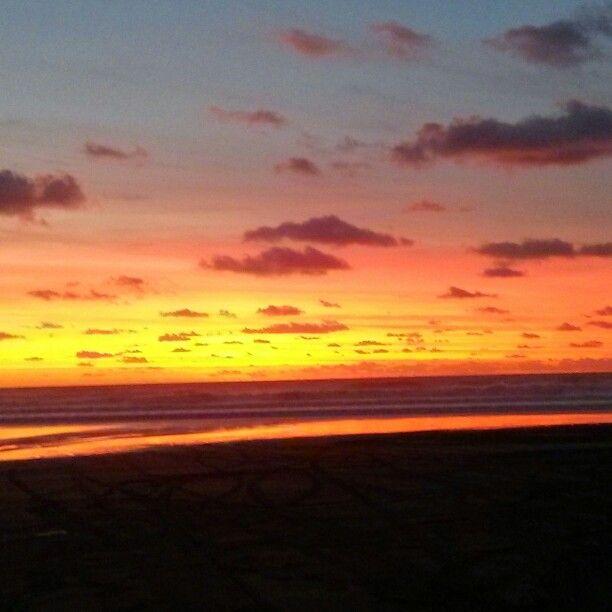 Kariotahi Beach sunset