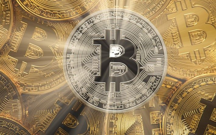 Download wallpapers bitcoin, crypto-currency signs, 4k, electronic