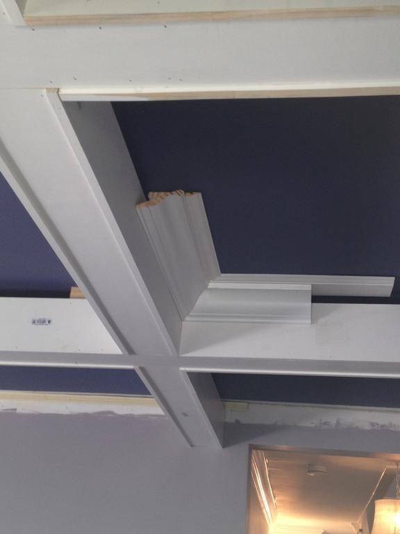 DIY coffered ceilings