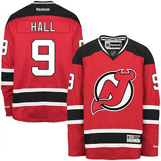 New Arrival–Men's New Jersey Devils Taylor Hall Reebok Red Home Remier Player Jersey–59.99$