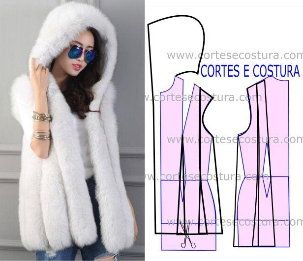 Muito lindo e de design arrojado este casaco com capuz feminino tem um corte e…