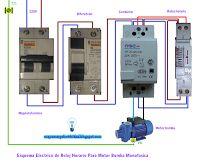 Esquemas eléctricos: Reloj horario para motor bomba monofasica