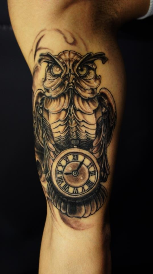 Chronic Ink Tattoos Toronto Tattoo Custom Biomechanical Owl And
