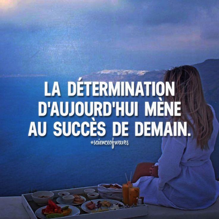 La détermination d'aujourd'hui mène au succès de demain. Tu aimes? Fais le nous savoir, suis et partage avec tes amis! ➡️ @adillaresh for inspirational quotes!