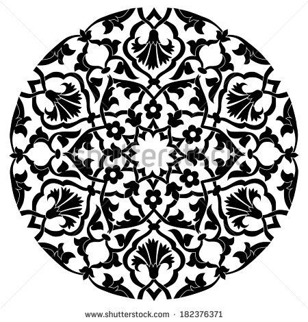 series of patterns designed by taking advantage of the former Ottoman by antsvgdal, via Shutterstock