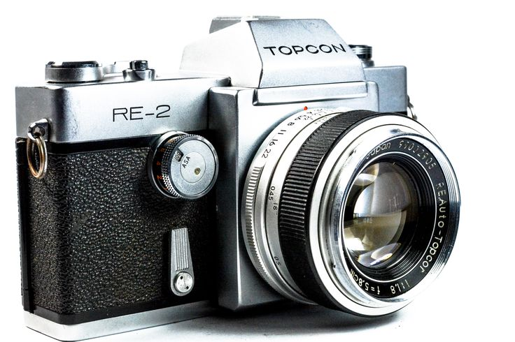 Topcon RE 2 35mm SLR Camera with Topcor 58mm Lens #Topcon #Camera #Vintage #Photography #Filmphotography