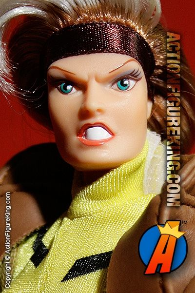 Toybiz just didn't seem to know how to make a pretty female action figure. Rogue appears here as a mean-looking Famous Cover Series 8-inch figure. #rogue #xmen #actionfigure #toybiz