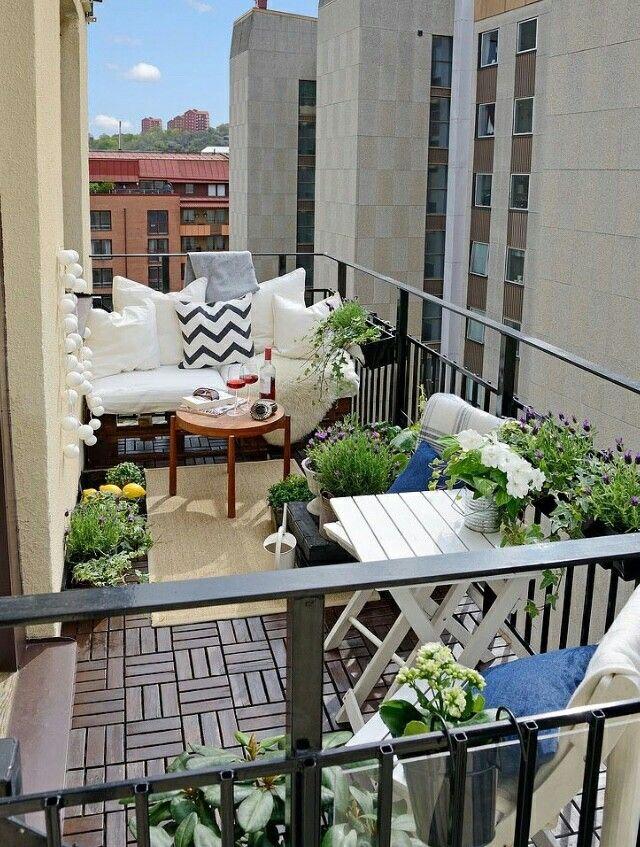 Attraktive Dekoration Balkon Planten Dekor