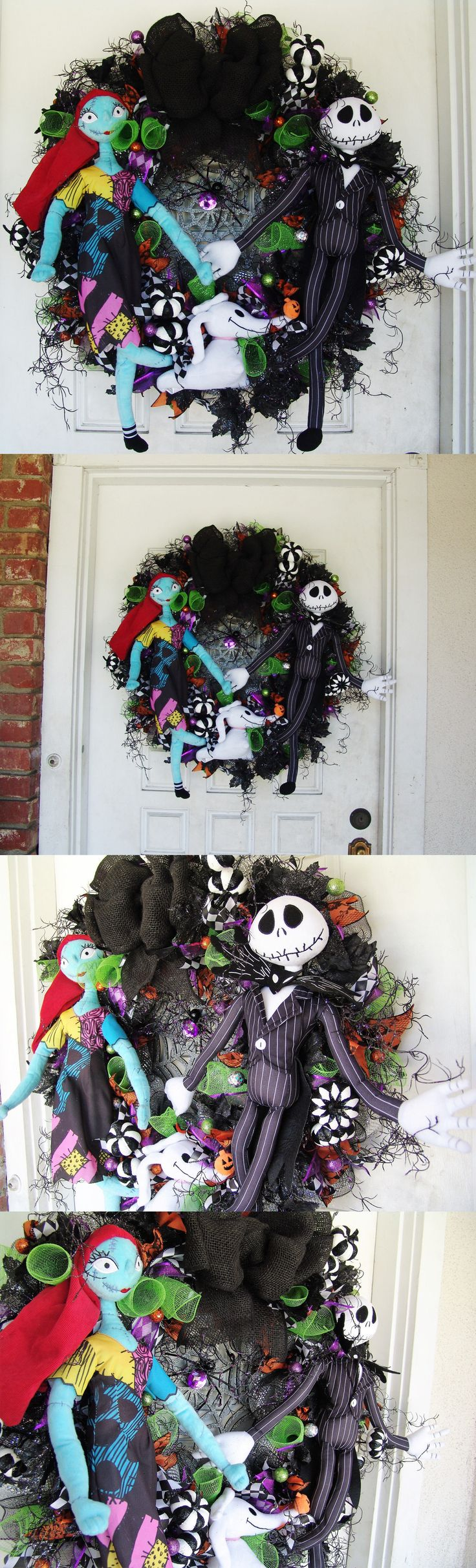 Diy jack skellington s body nightmare before christmas youtube - Nightmare Before Christmas 36586 Xxl Jack Skellington Sally Zero Nightmare Before Christmas Halloween Door Wreath