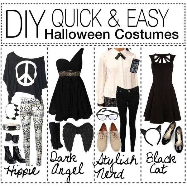 diy quick easy halloween costumes by thetipsisters on polyvore - Quick And Easy Halloween Decorations