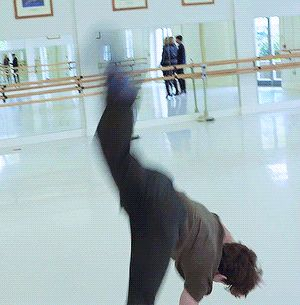 I thought he was gonna stumble and then he did a flip and I'm just extremely disappointed in myself