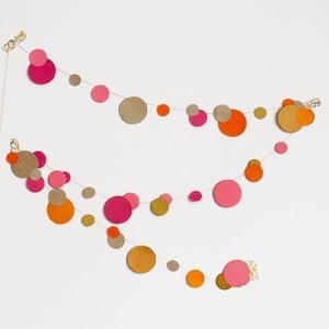 muskane garland - multicoloured bubbles bright pink and orange
