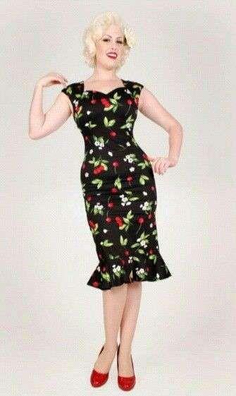 Vestidos pin-up: fotos modelos - Vestido pin-up estampado