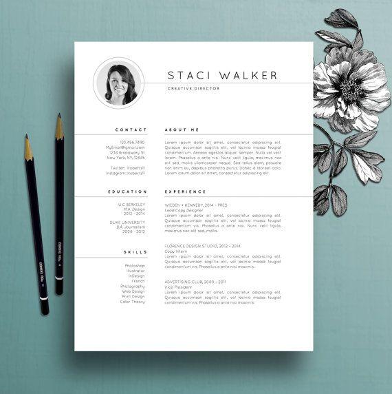 Modern Resume Template 3pk, CV Template + References Letter, Creative Resume Template, Professional Resume, Instant Digital Download, Staci