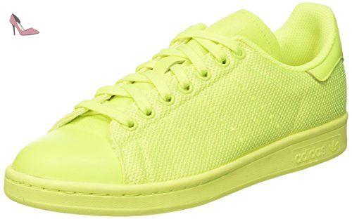 adidas Stan Smith, Baskets Basses Mixte Adulte, Jaune (Solar Yellow/Solar Yellow/Solar Yellow), 43 1/3 EU - Chaussures adidas (*Partner-Link)