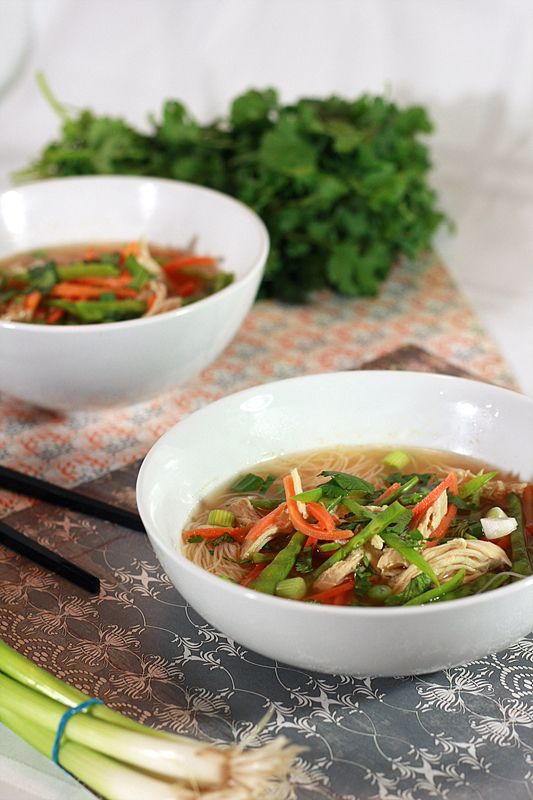 spicy asian chicken noodle soup... one of my absolute favorite things to eat.