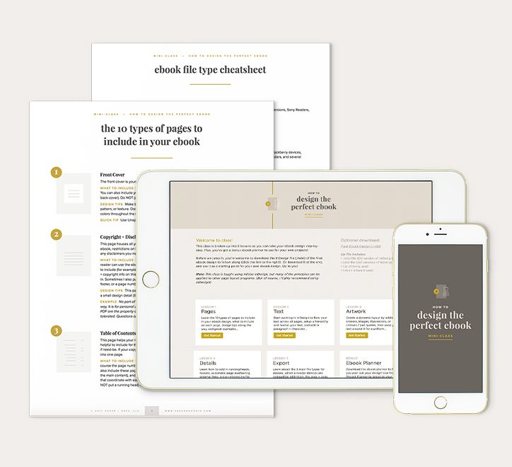 Best 50 digital product design images on pinterest business tips how to design the perfect ebook mini class by paper oats fandeluxe Gallery