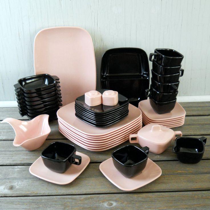 New Melmac Dinnerware Sets | Melmac BrookPark Modern Design Dinnerware Set by lisabretrostyle2
