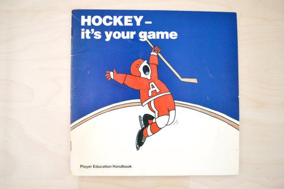 Vintage Hockey Player Education Handbook by threerosesvintage