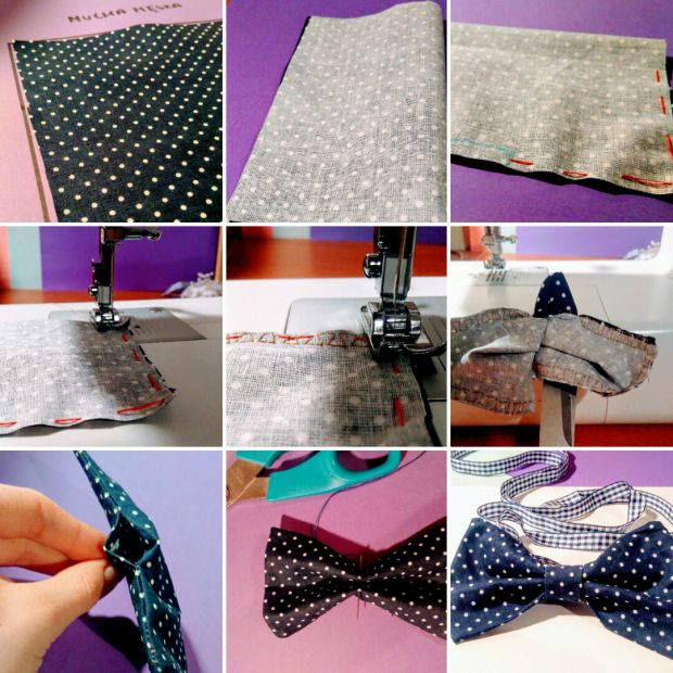#bow #bow-tie #blue #dots # kropki #mucha #diy #zrób_to_sam #how_to